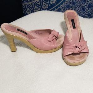 Pink Xhilaration sz 8.5 slide sandal heels